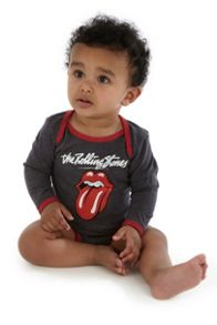 Amplified Kids Babies Rolling Stones Lick Boysuit