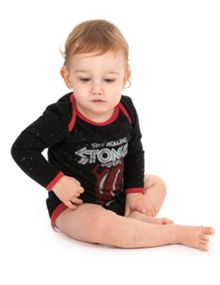 Baby`s Rolling Stones Tour speckle babygrow