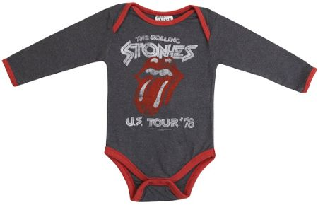Amplified Kids Babies Rolling Stones Tour Marl Babygrow