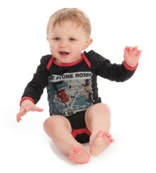 Baby`s Stone Roses Adored speckle babygrow