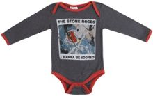 Amplified Kids Babies Stone Roses Adored Marl Babygrow