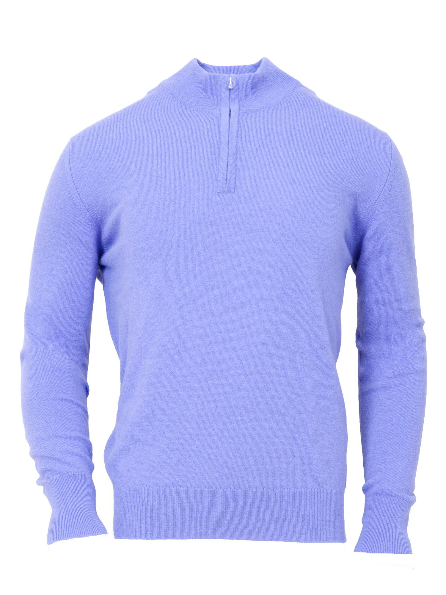 Men`s 1-ply Angora Zip jumper