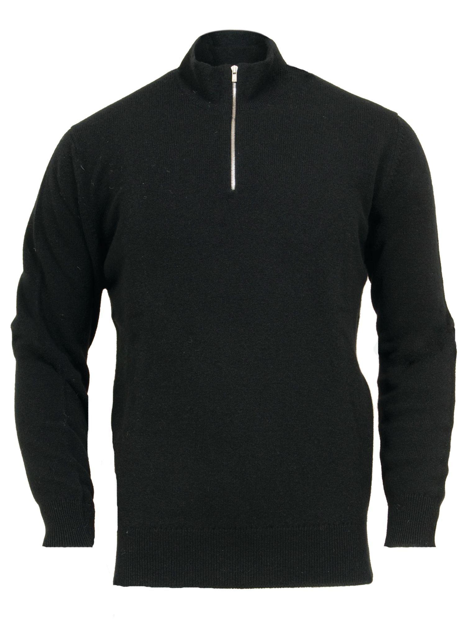 Men`s lambswool zip jumper