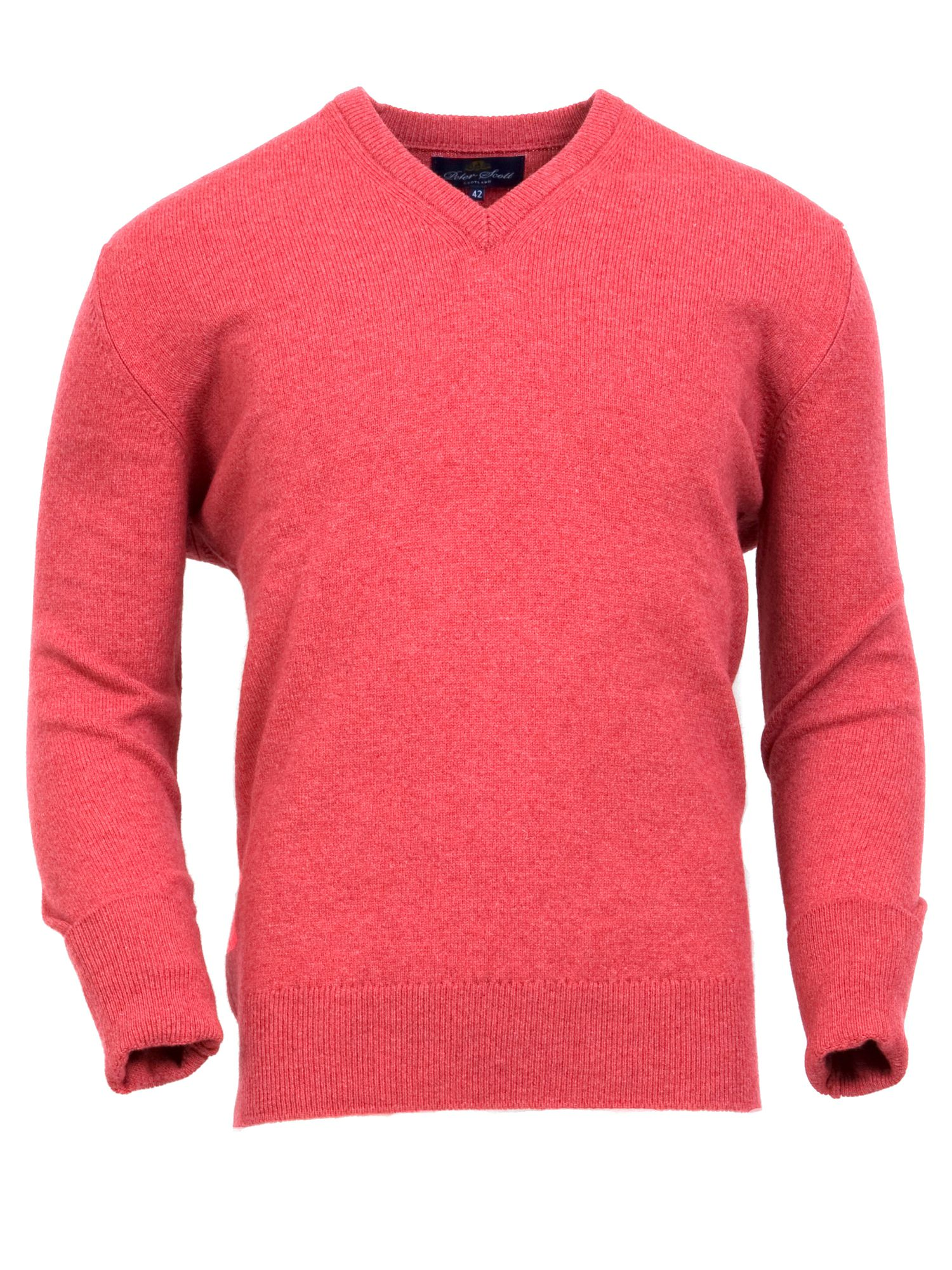 Men`s lambswool v neck jumper