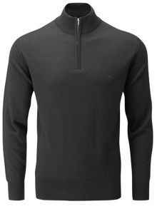Peter Scott Merino zip neck jumper