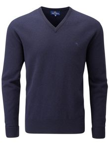 Peter Scott Lambswool v neck jumper