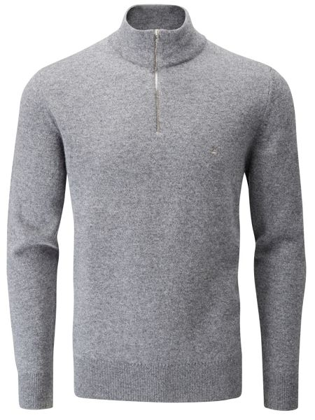 Peter Scott Lambswool zip neck jumper