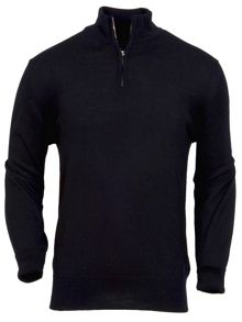 Merino zip neck jumper