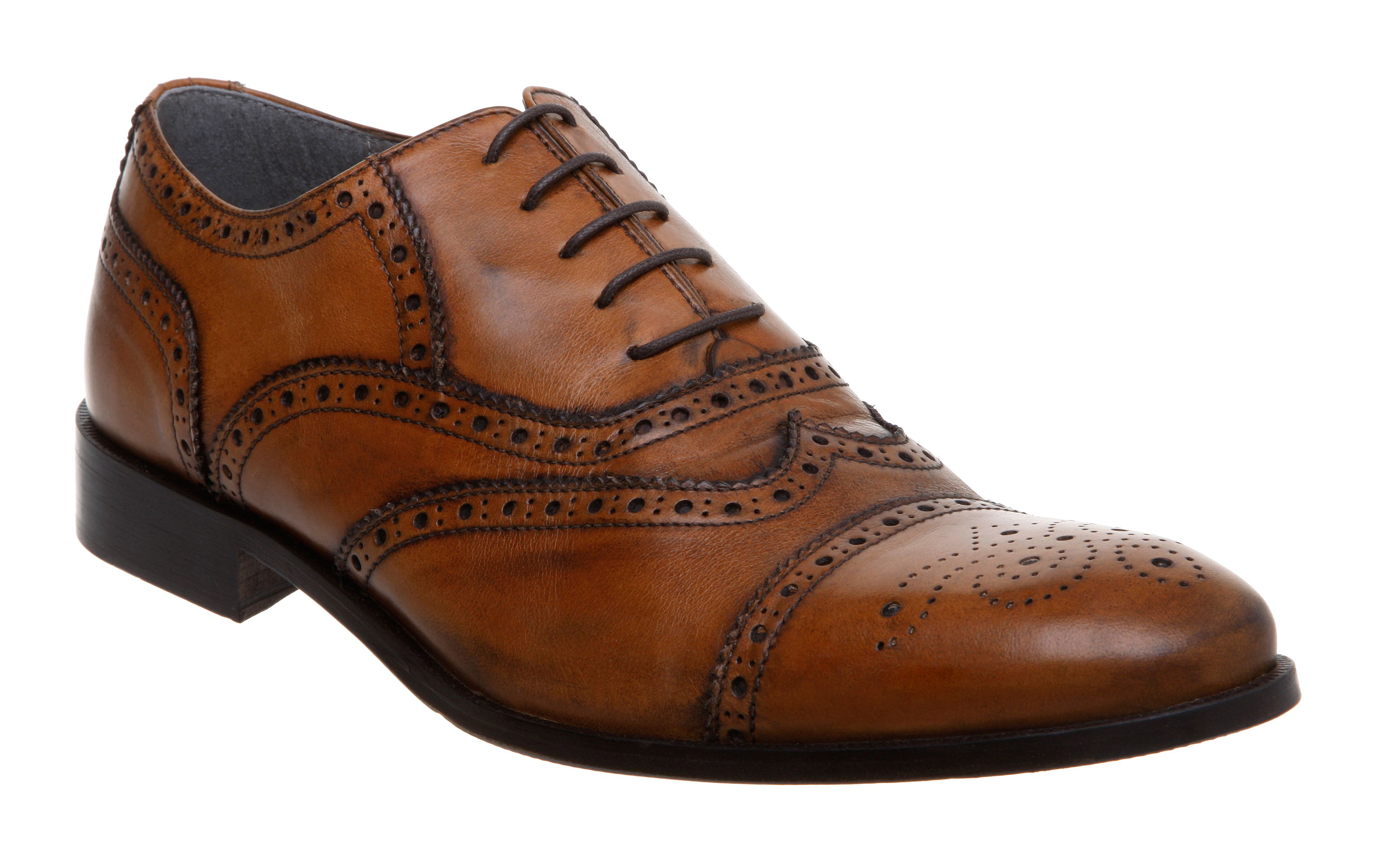 Brake wingtip brogue lace up shoes