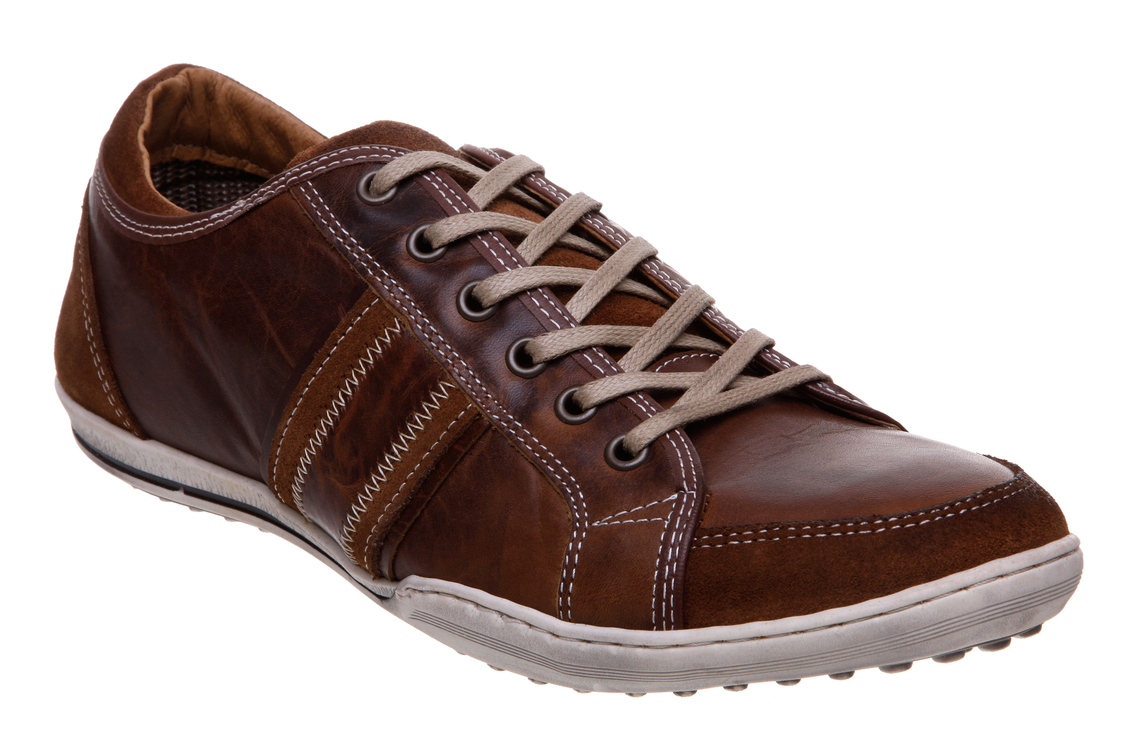 Whiskey stripe panel trainers