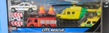 City rescue vehicles