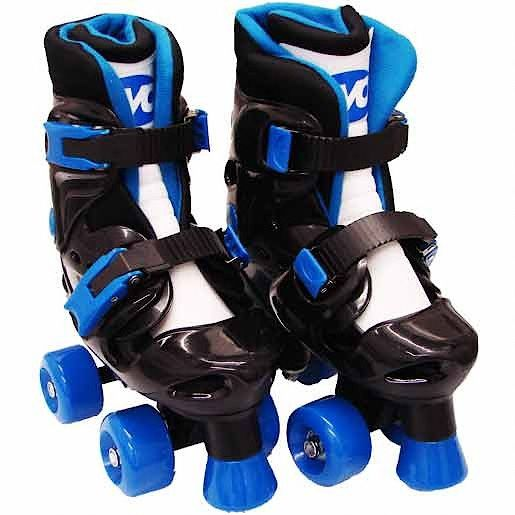 Evo Blue Quad Skates - Child Size 13 to Adult Siz