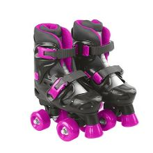 Evo adjustable quad skates pink/black - junior si