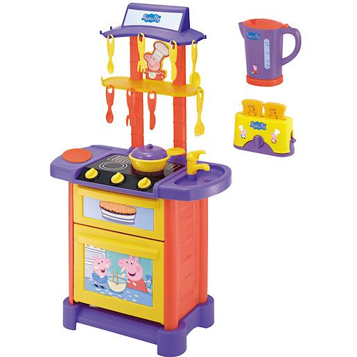 Peppa pig toys shop for cheap dvd video and save online for Kitchen set toy kingdom