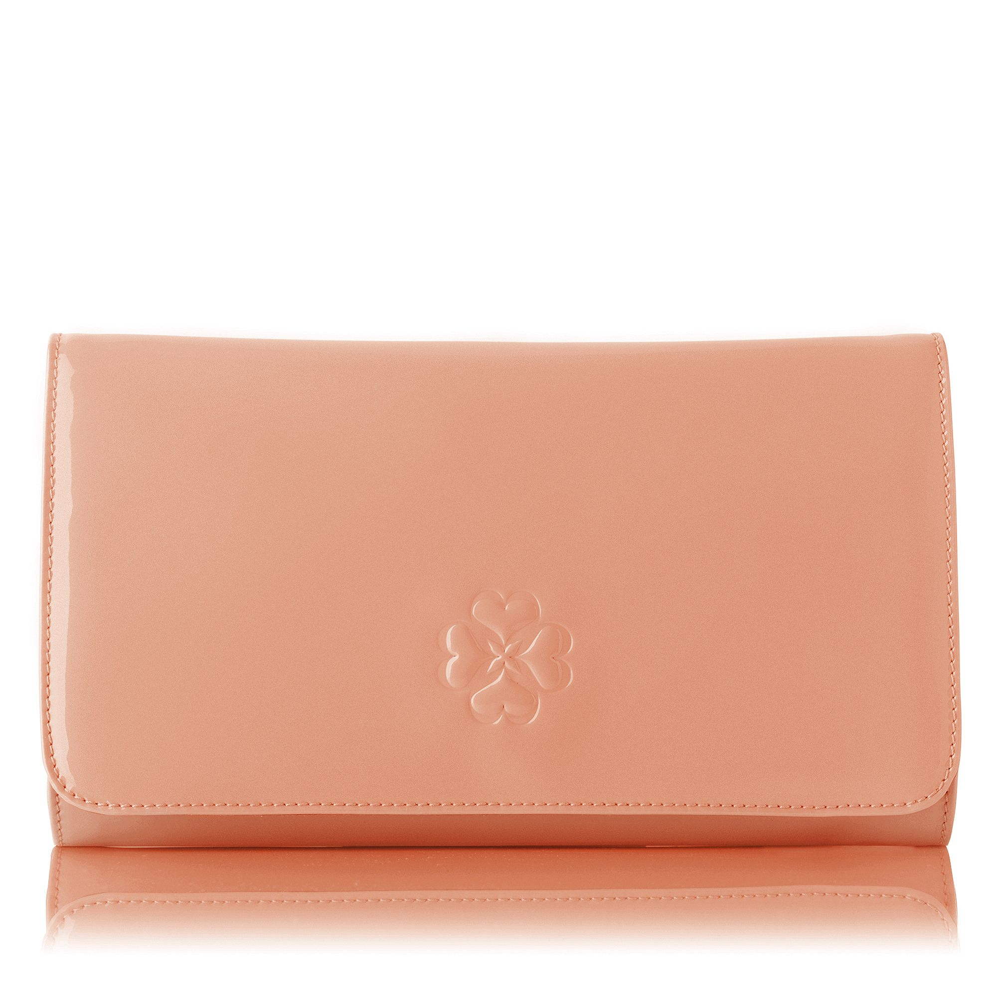 Frome patent leather clutch bag