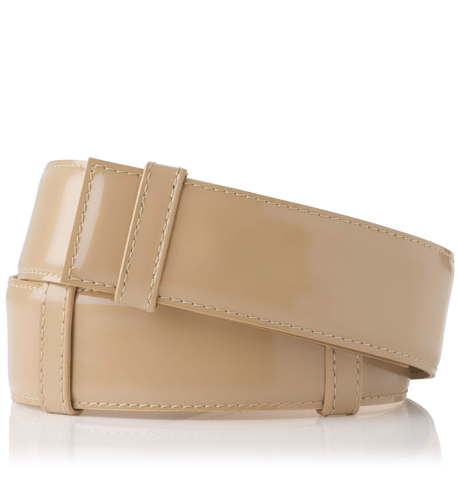 Alana wide adjustable patent belt