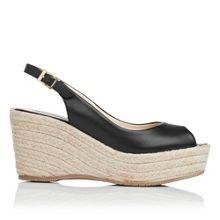 April leather open toe wedge shoes