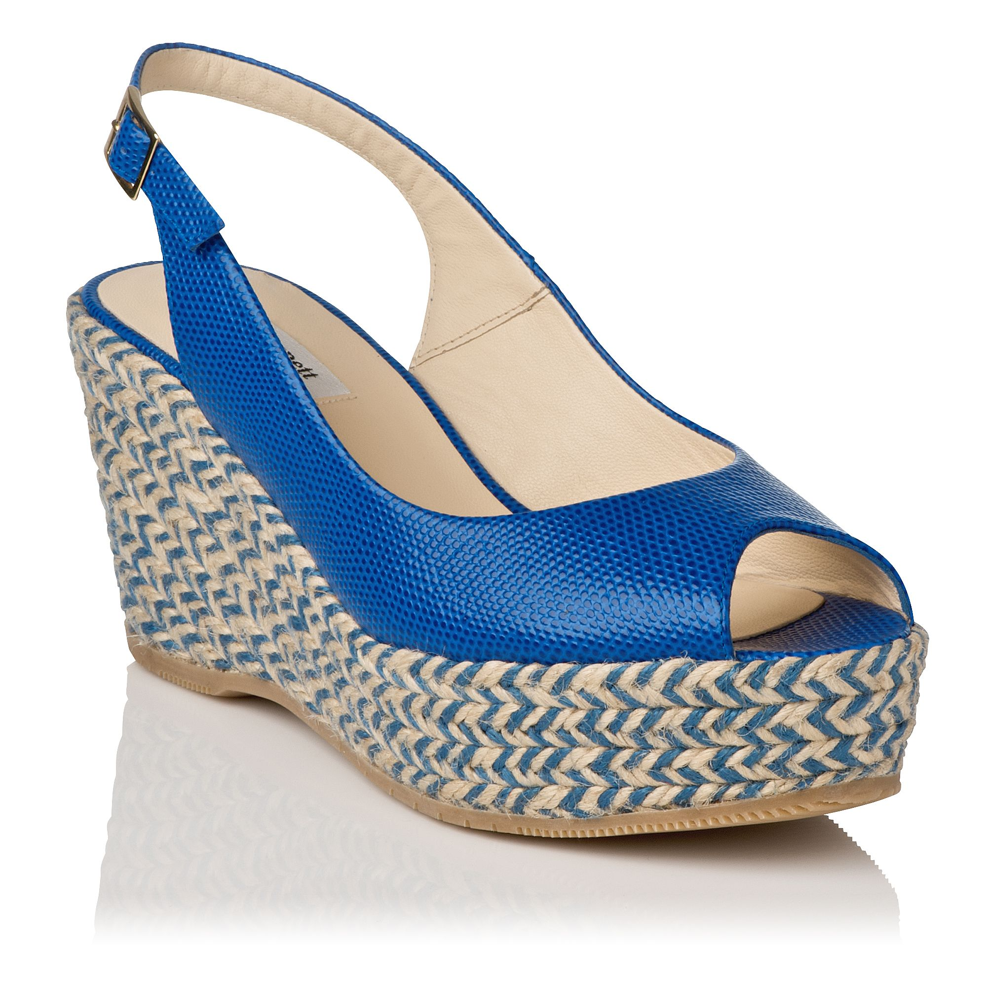 April suede open toe slingback wedge shoes