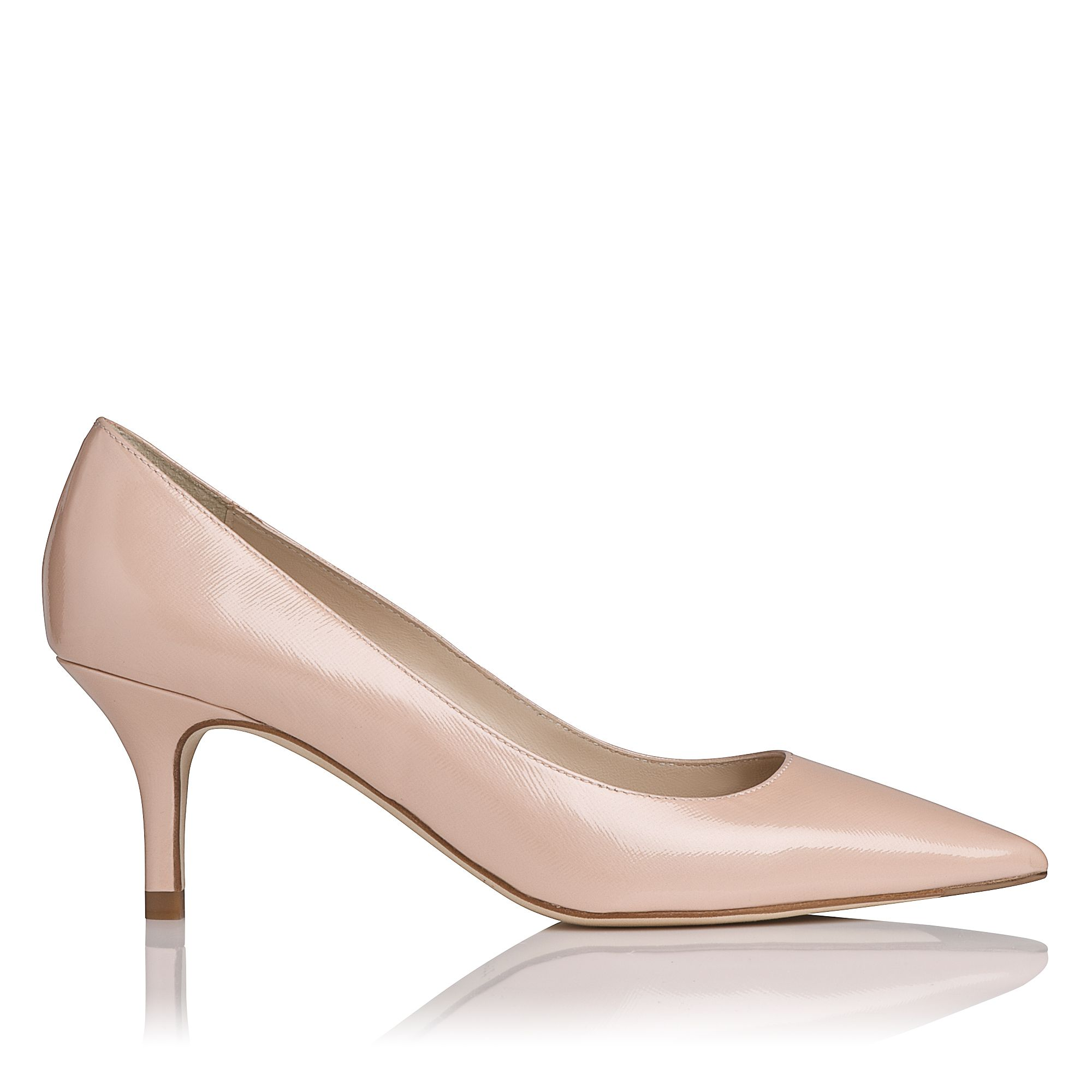 Florisa leather stiletto point court shoes