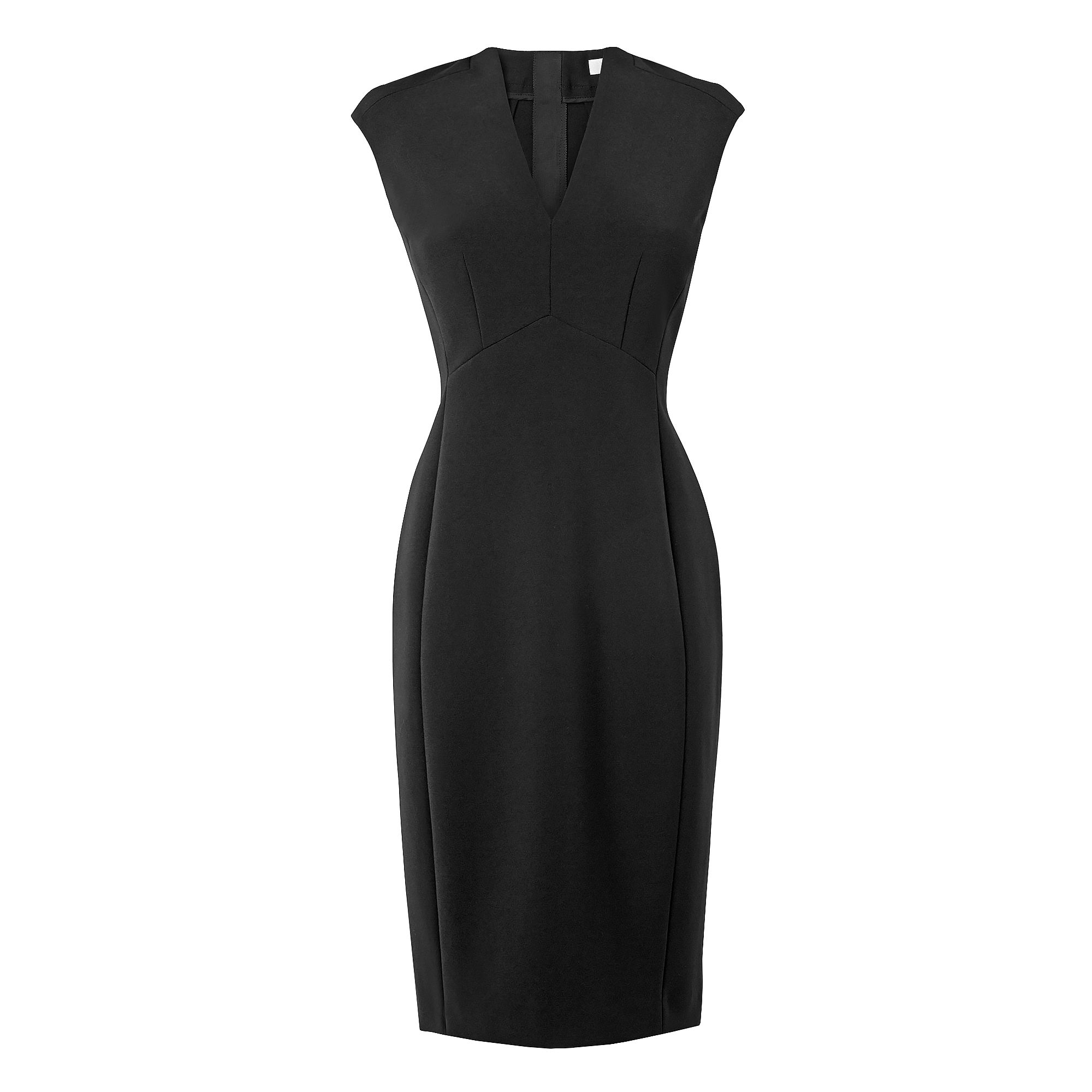 Aniva Cap Sleeve Collar Fitted Dress
