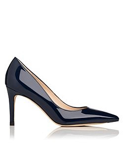 Floret patent leather court shoes