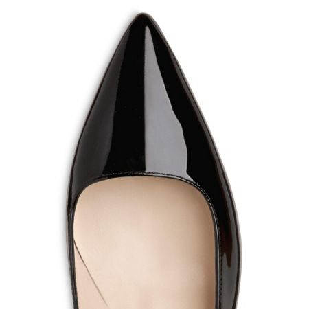L.K. Bennett Minu single sole pointed court shoes