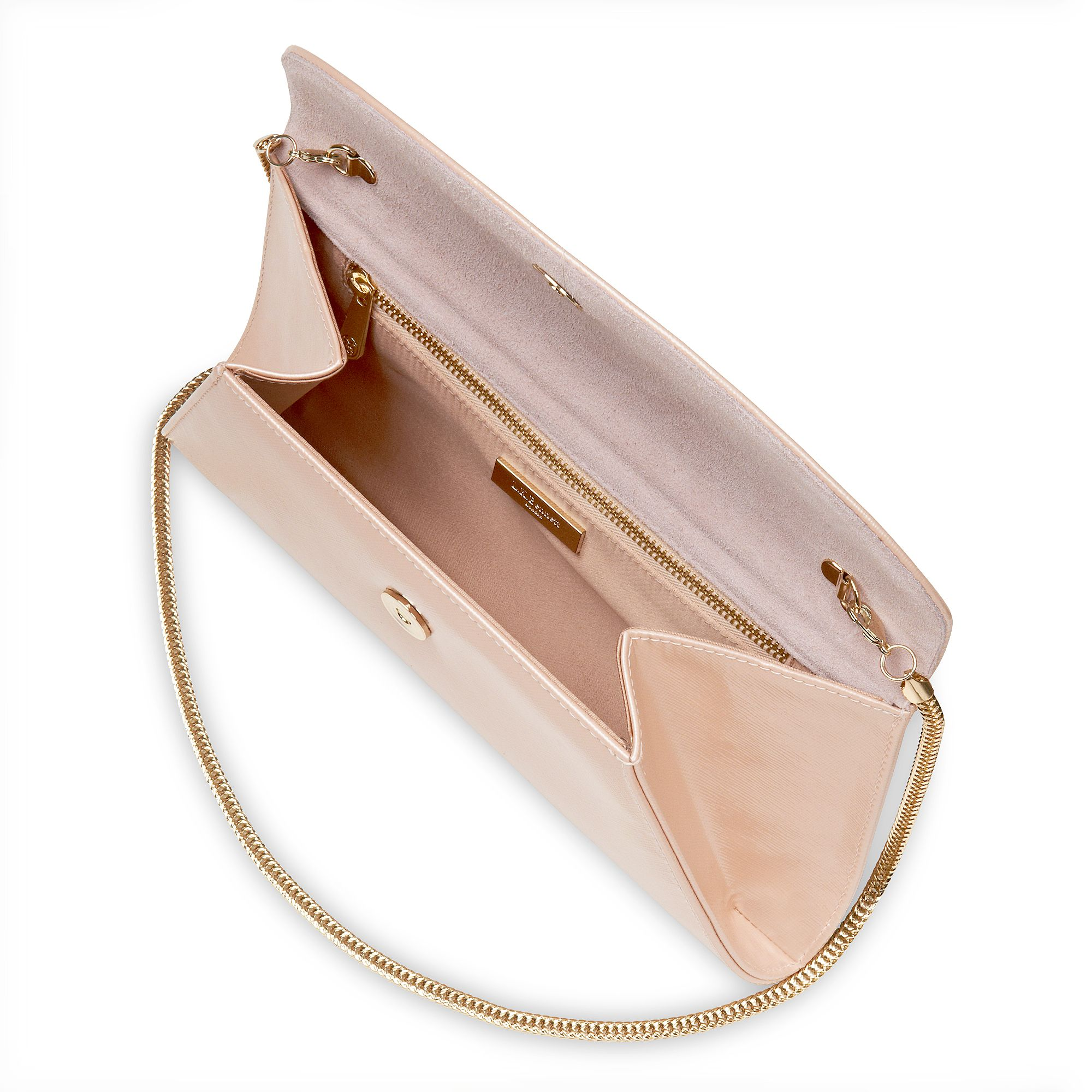 Flo patent leather envelope clutch