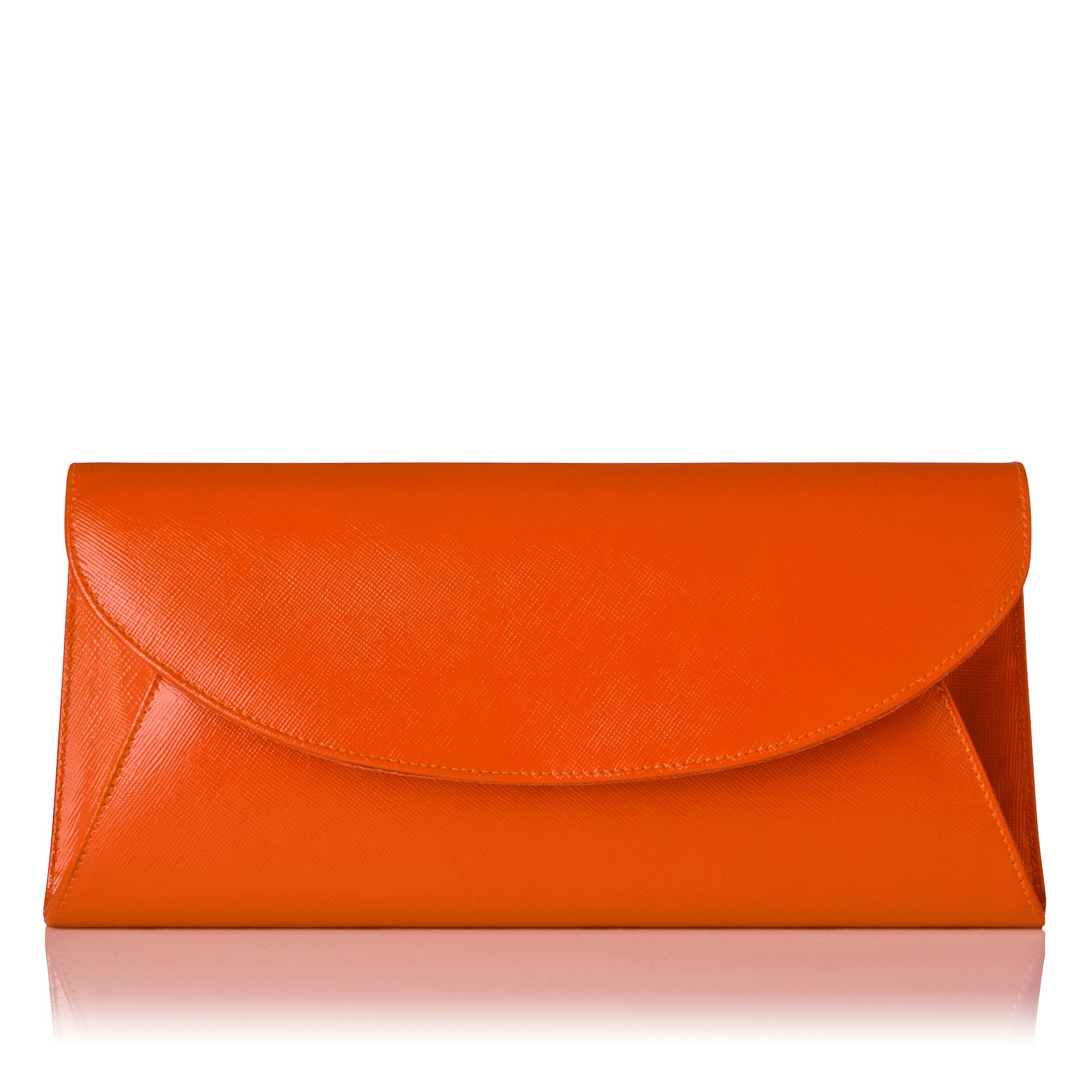 Flo patent leather envelope clutch bag