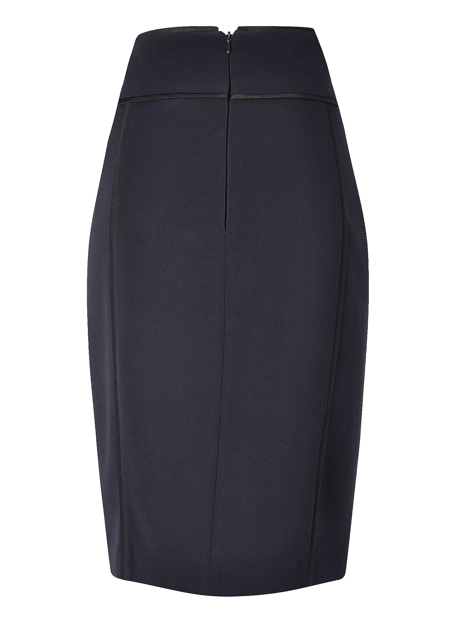 Dali Plain Viscose Mix Pencil Skirt