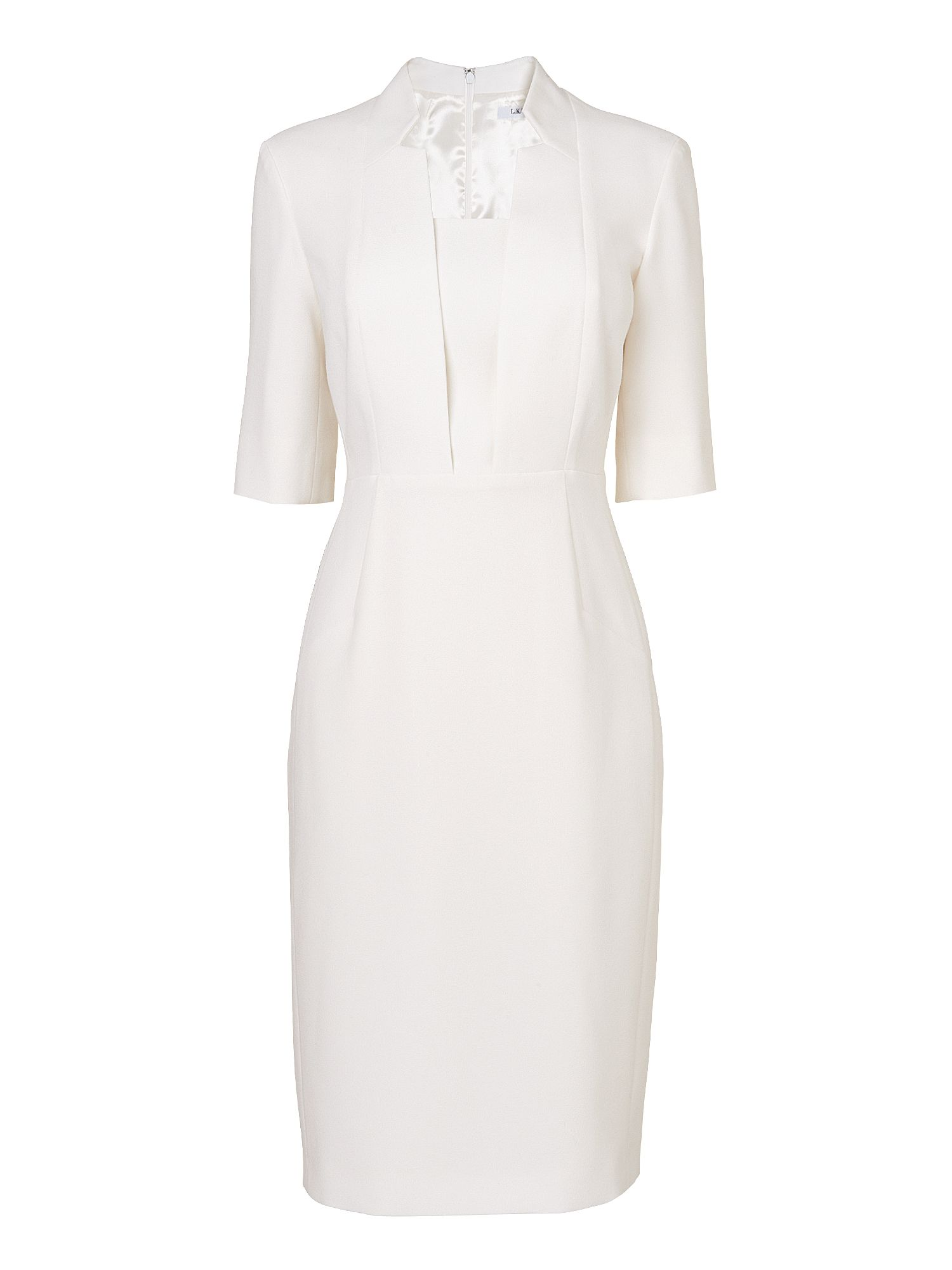 L.K. Bennett Detroit fitted dress, Cream