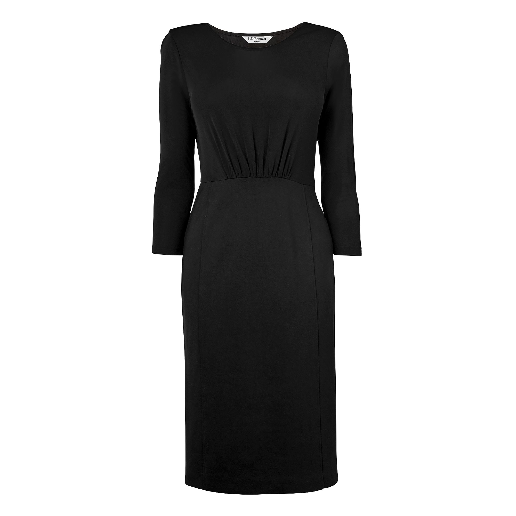 Tema 3/4 Sleeve Plain Day Dress