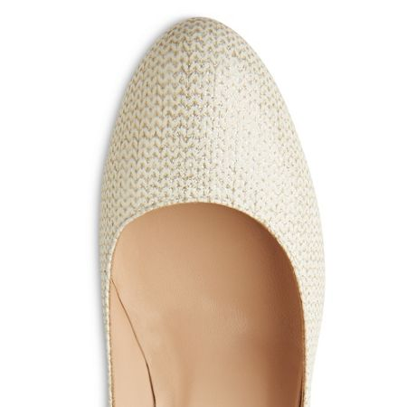 L.K. Bennett Stila single sole round toe court shoes