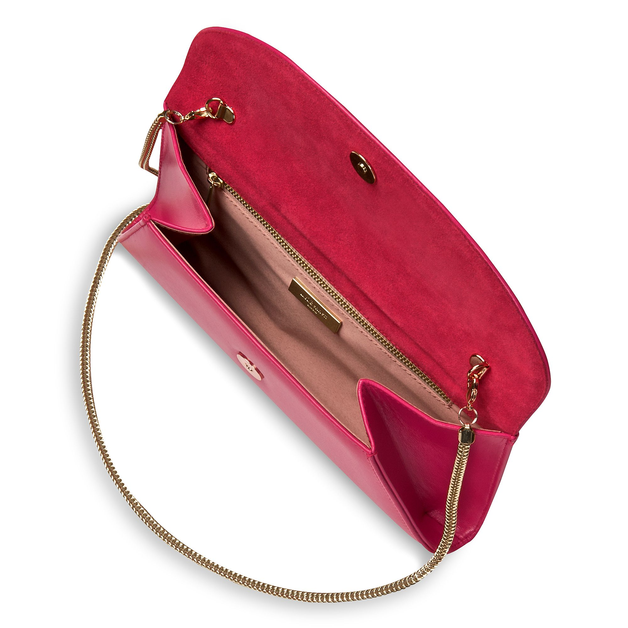 Flo curved envelope clutch bag