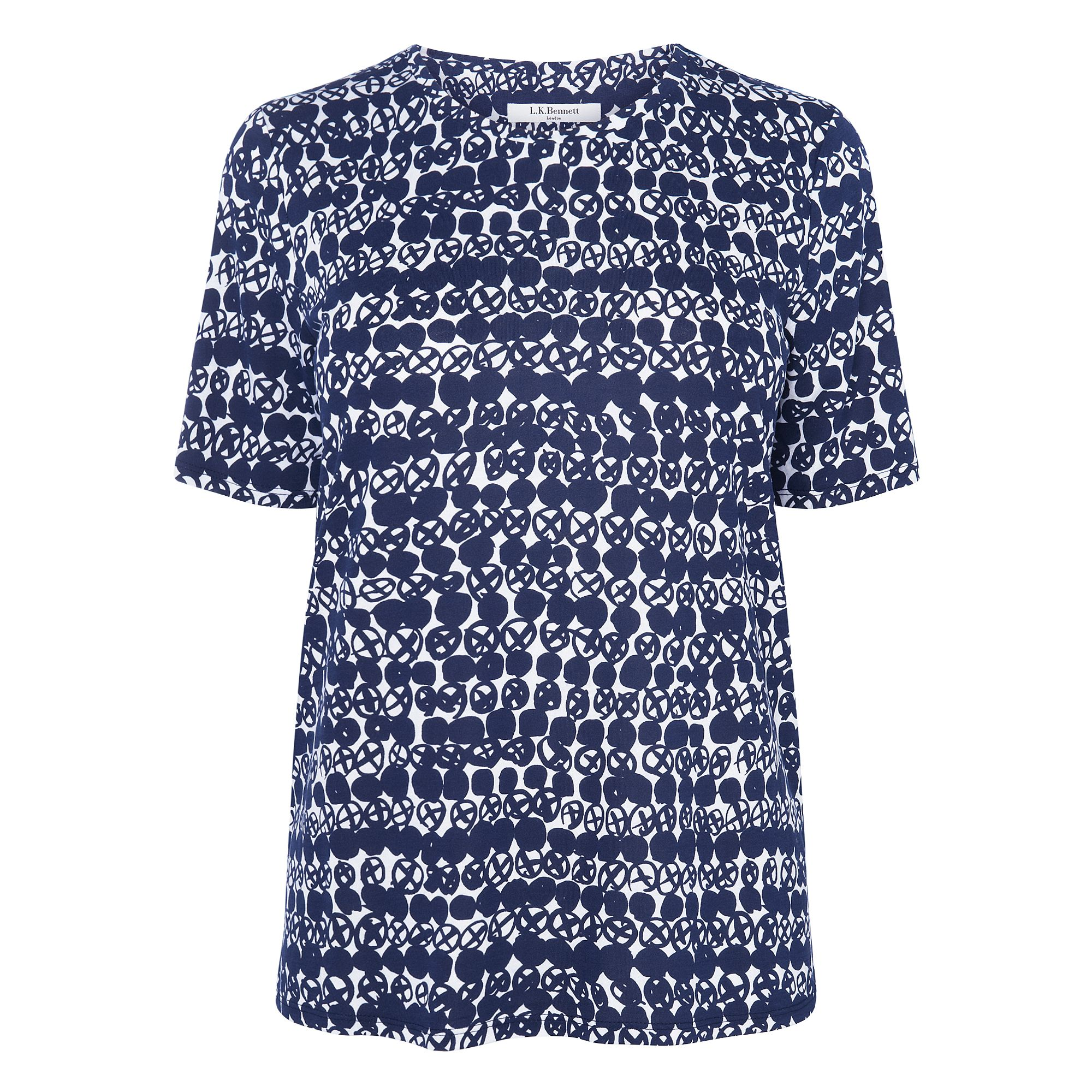 Volsa Printed Jersey Top