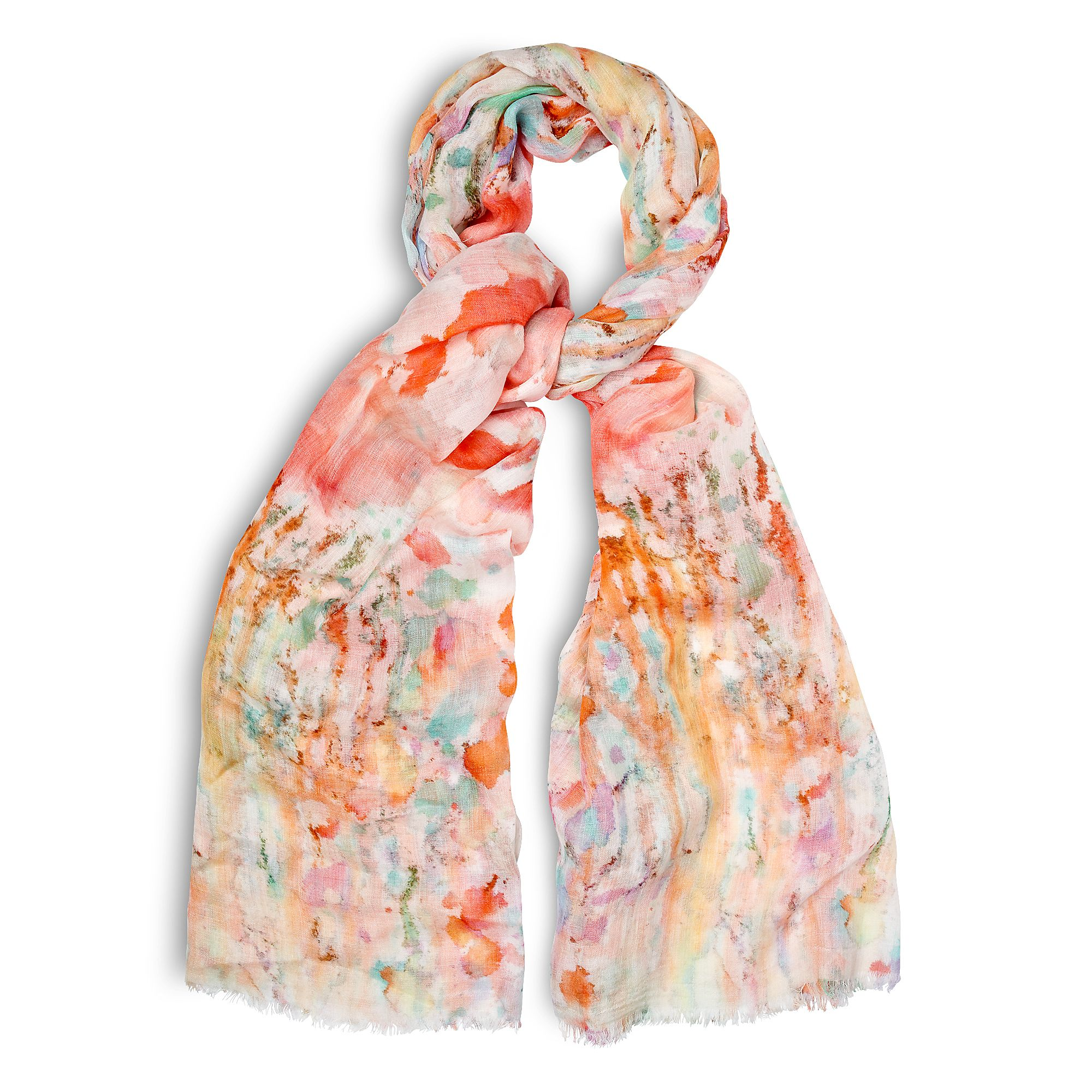 Watercolour print scarf