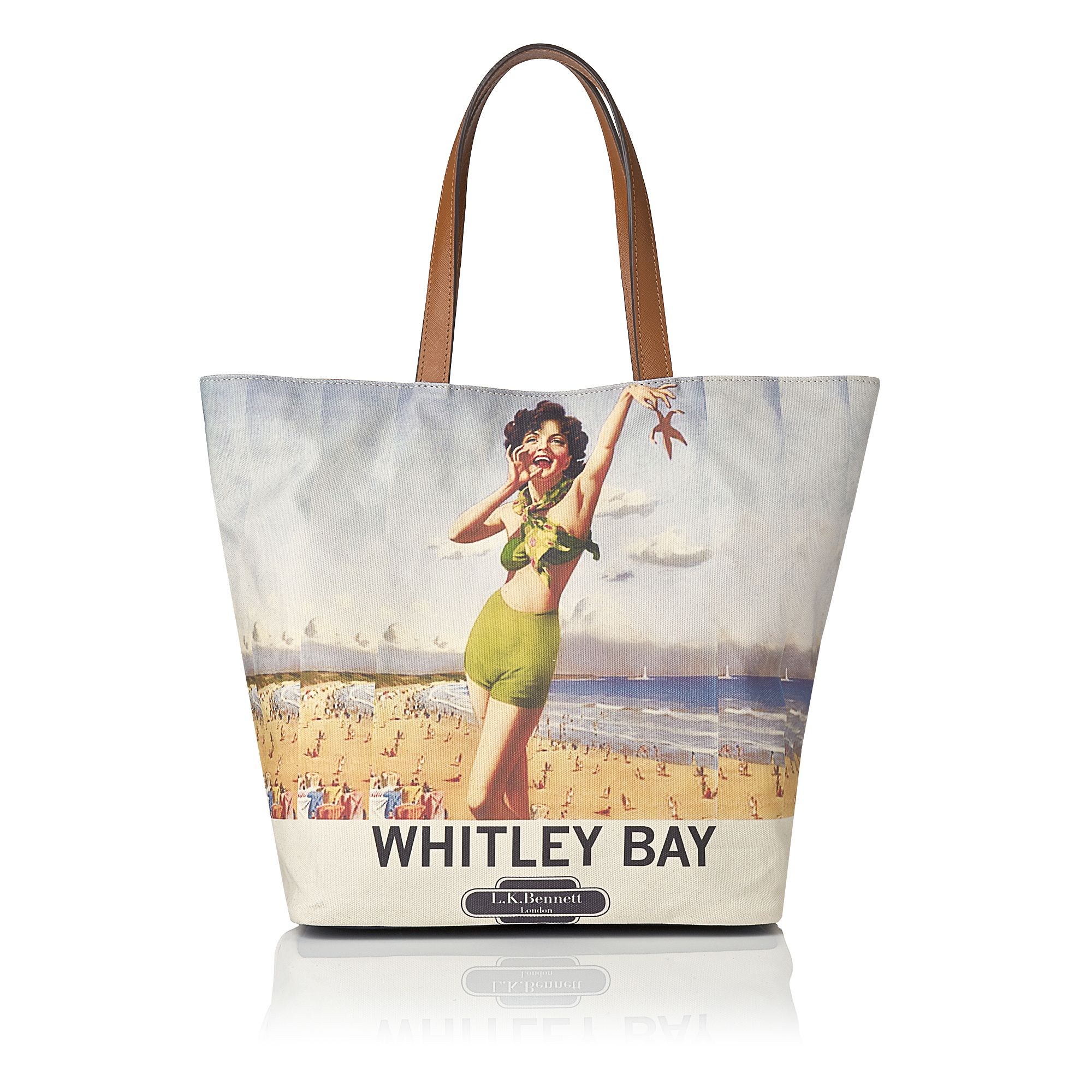 Whitleybay canvas beach bag