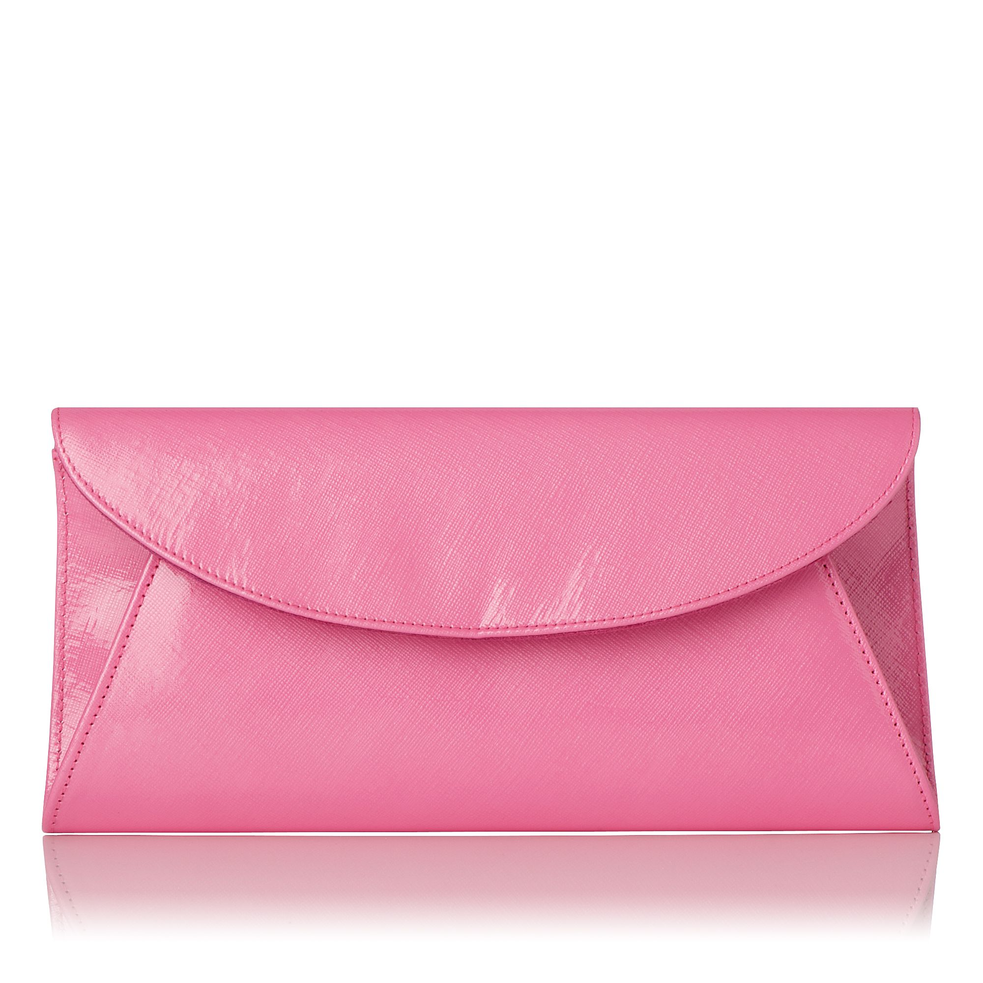 Flo saffiano patent leather clutch
