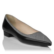 Agatha pointed toe panelled skimmer court shoes