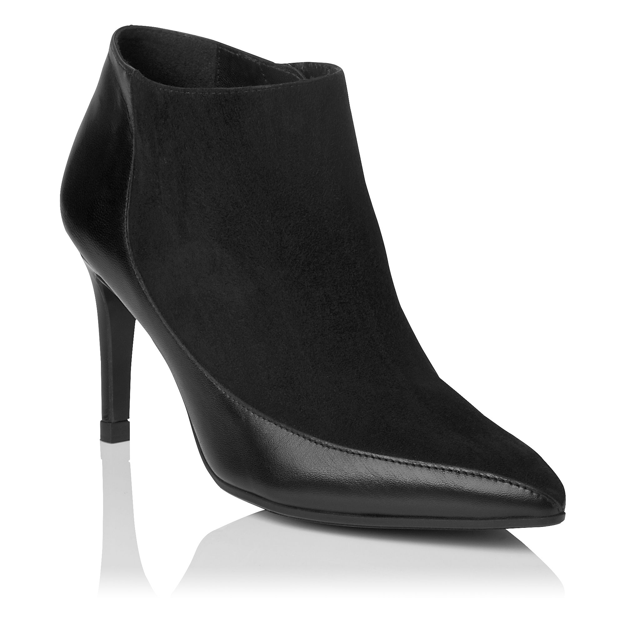 Amanda pointed toe panelled ankle boot