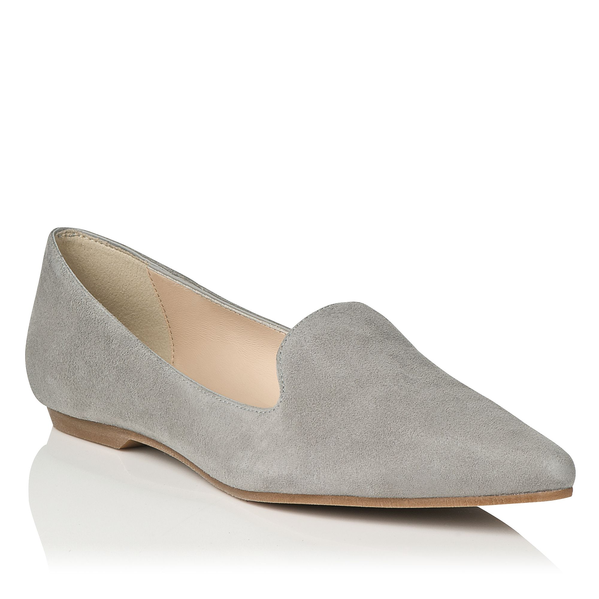 Tilly suede pointed toe slipper ballerinas