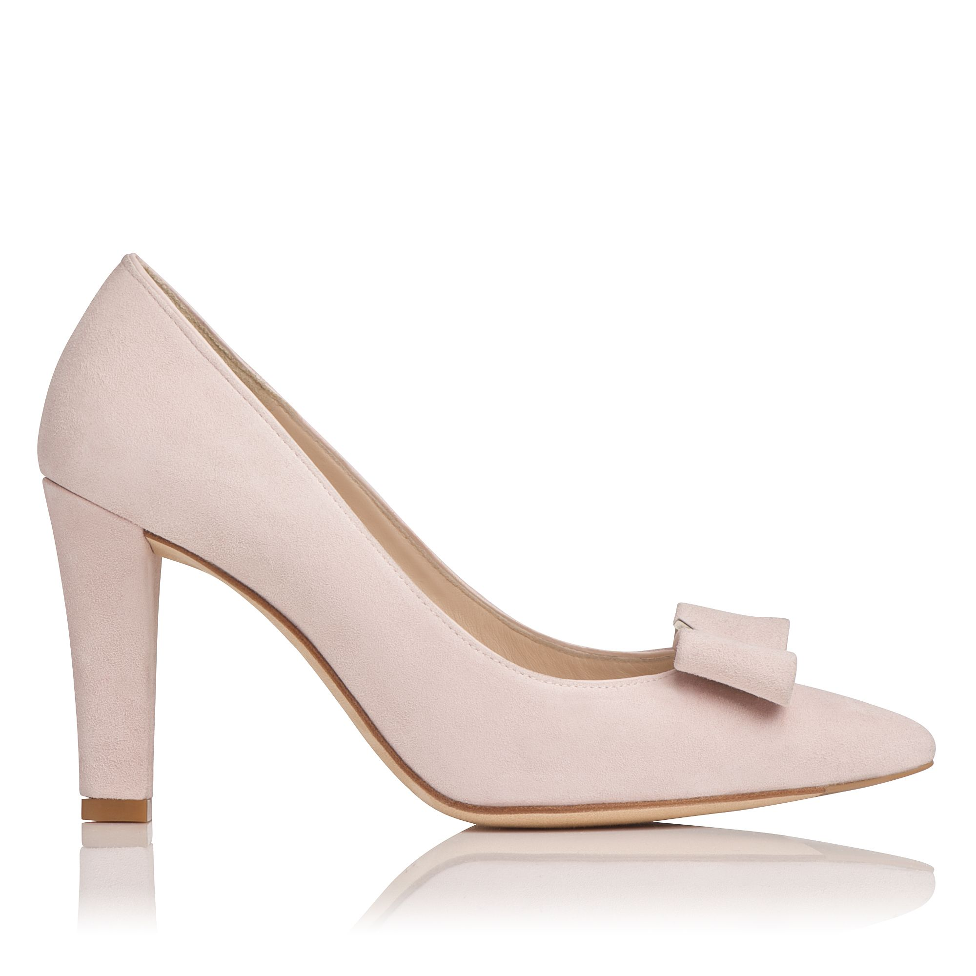 Kareena suede block heel court shoes