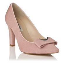 Kareena block heel court shoes