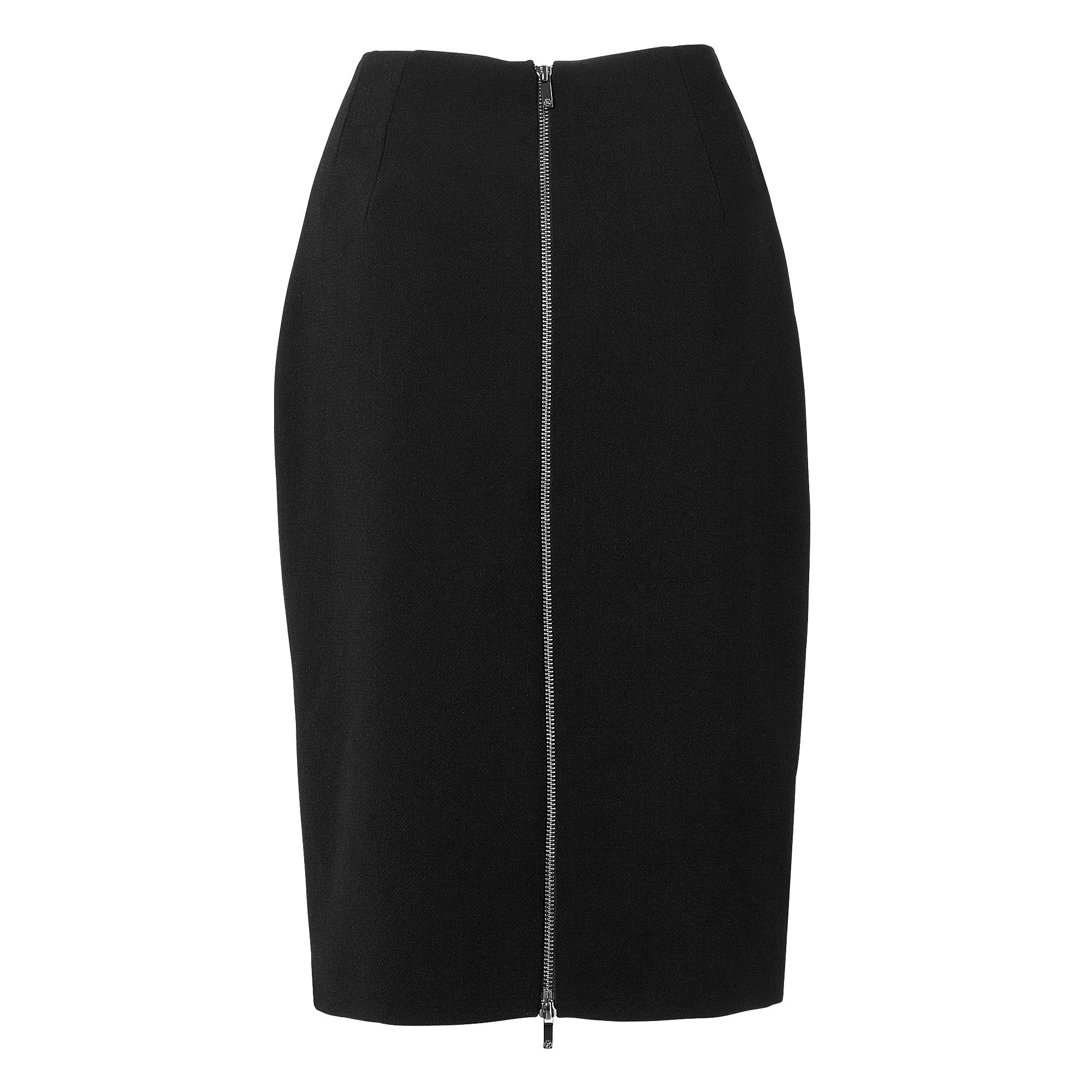 Lupin Zip Detail Pencil Skirt