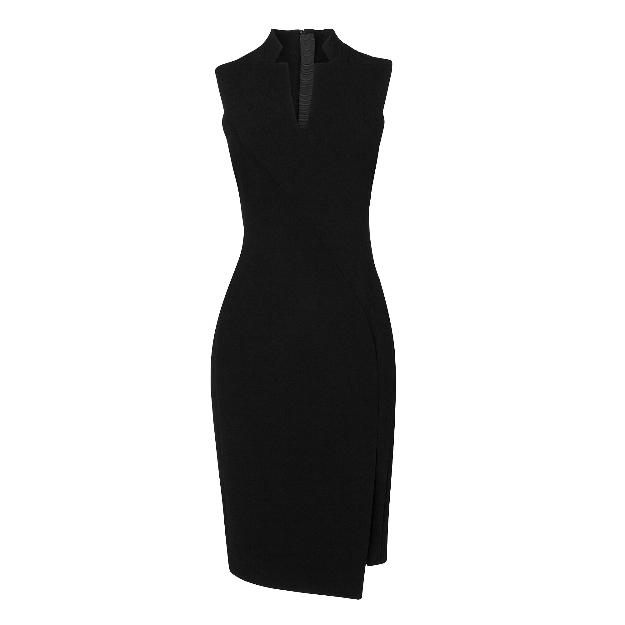 Lupina Sexy Fitted Notch Collar Dress