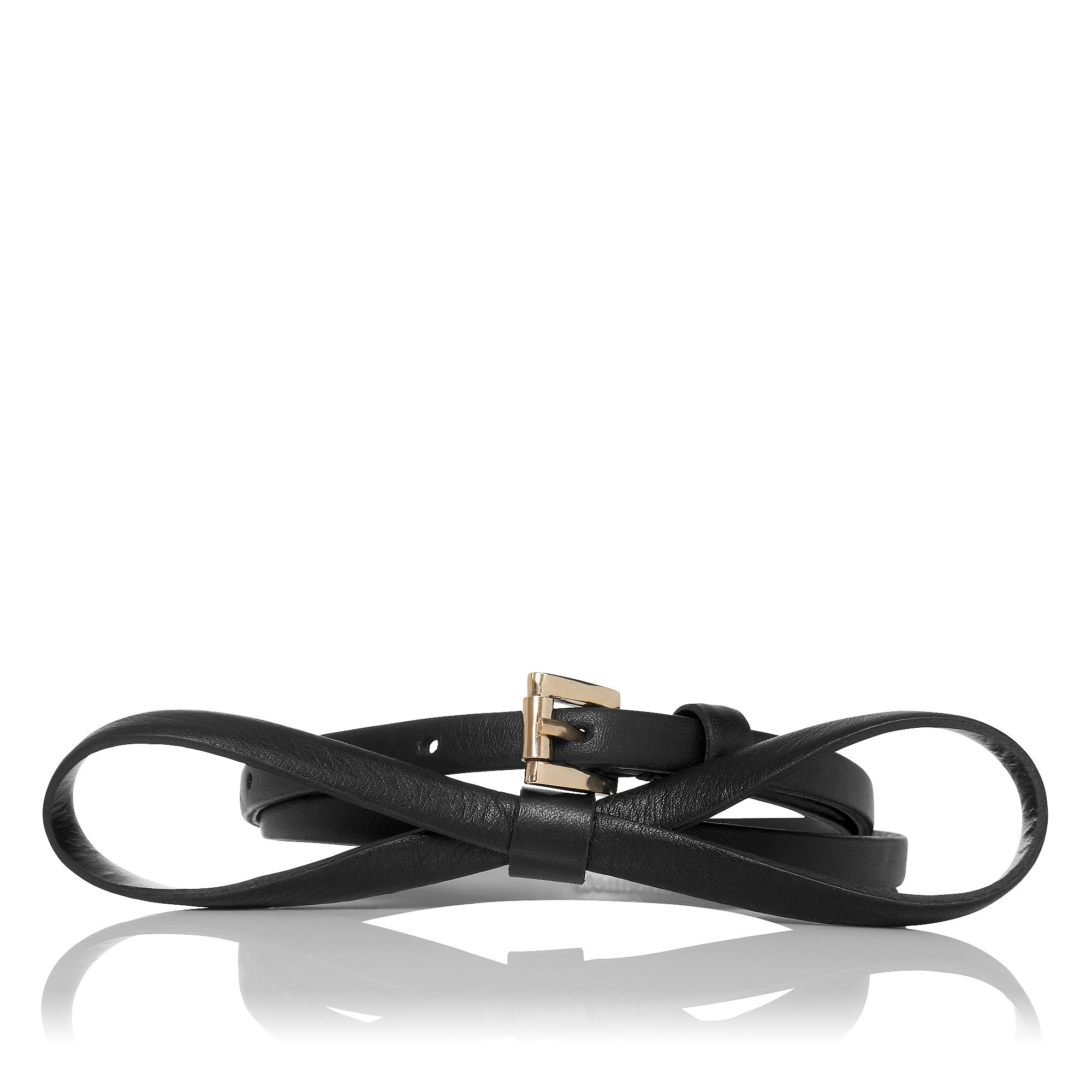 Pam leather skinny belt