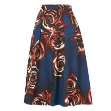 Joe Rose Print Full Skirt