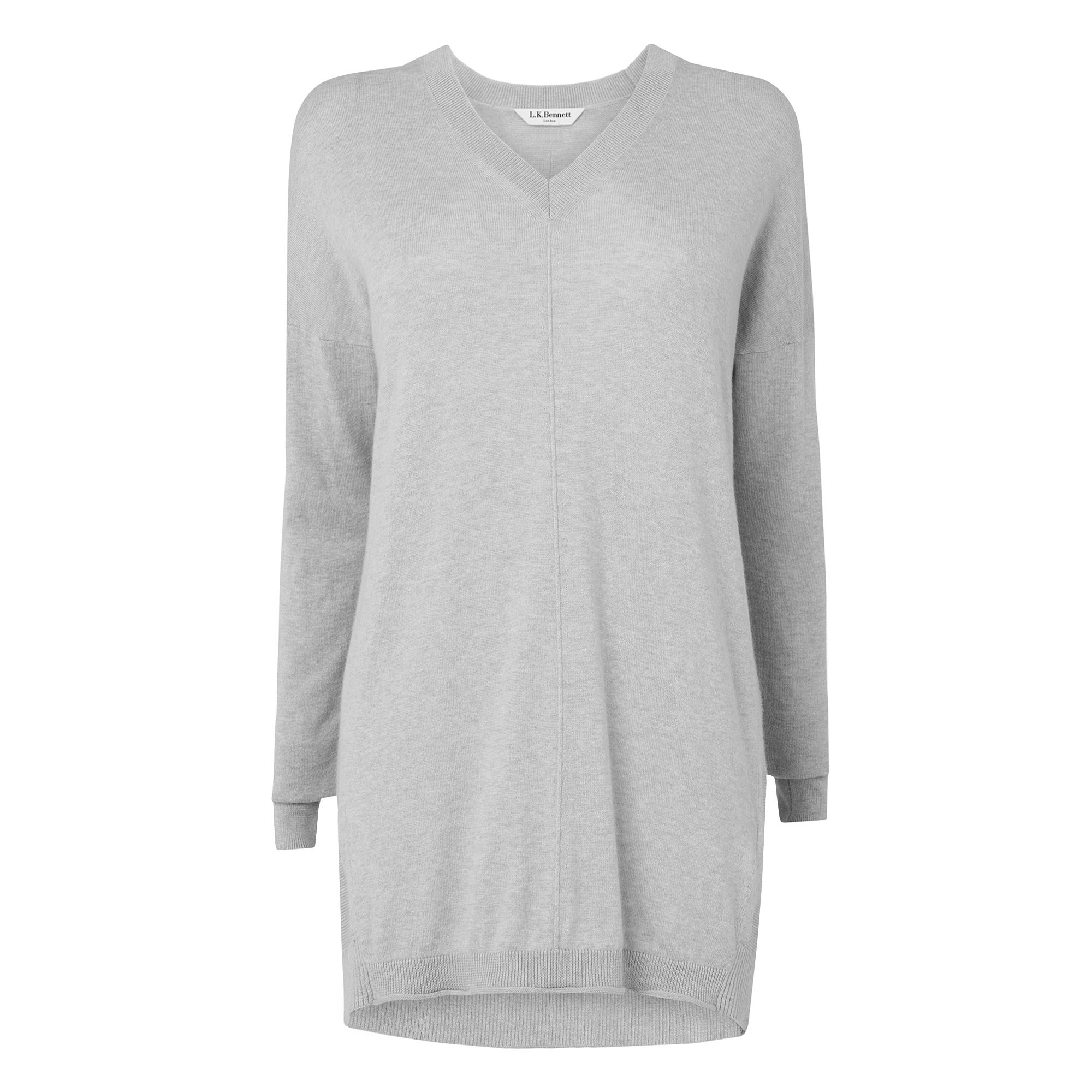 Saffron Slouchy Low V-Neck Jumper