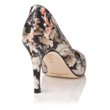 L.K. Bennett Floret single sole point court shoe