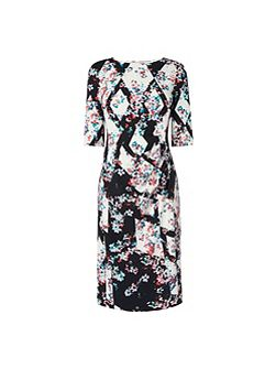 Crystal Printed Fitted Dress