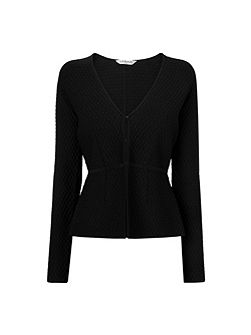 Alea Black Knitted Fitted Jacket